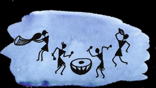 Warli painting graphic